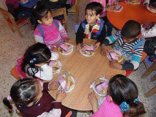 """برنامج اعادة البسمة للأطفال في المناطق الريفية والمهمشة في قطاع غزة """" الوجبات الغذائية"""" – المرحلة الثانية"""