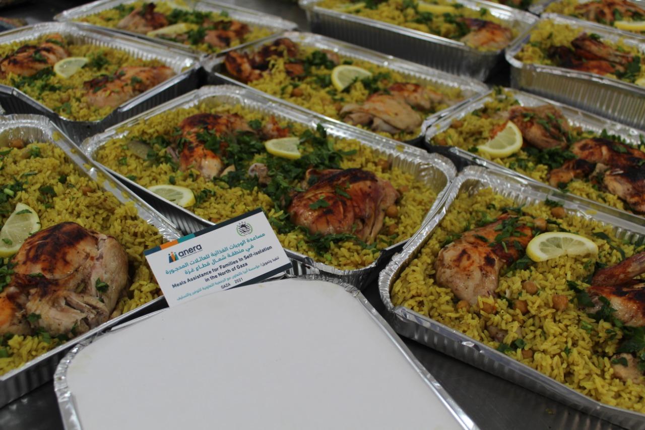 مشروع تقديم وجبات غذائية للاسر المحجورة في قطاع غزة