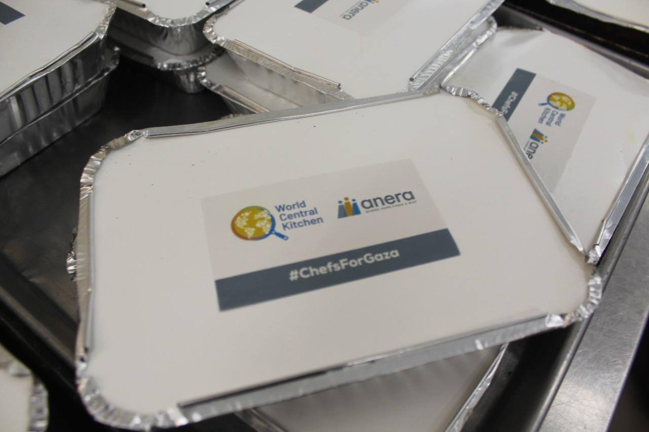مشروع مساعدة توزيع وجبات للعائلات المتضررة من الحرب في منطقة شمال قطاع